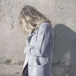 Grey Pea Coat Sweater